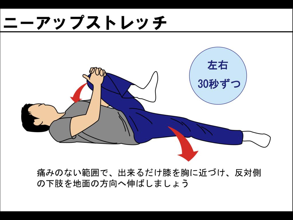 大腰筋のストレッチの一種 ニーアップストレッチ