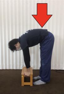 腰に負担のかかりやすい重量物の持ち方の一例